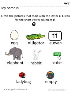 Find words that start with the letter e