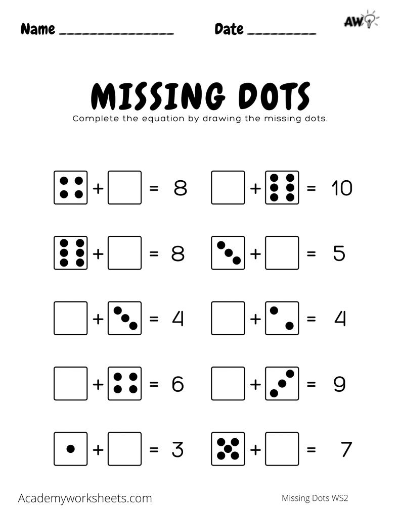 """""""find the missing number worksheet 2"""""""