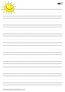 'lined paper for kids'