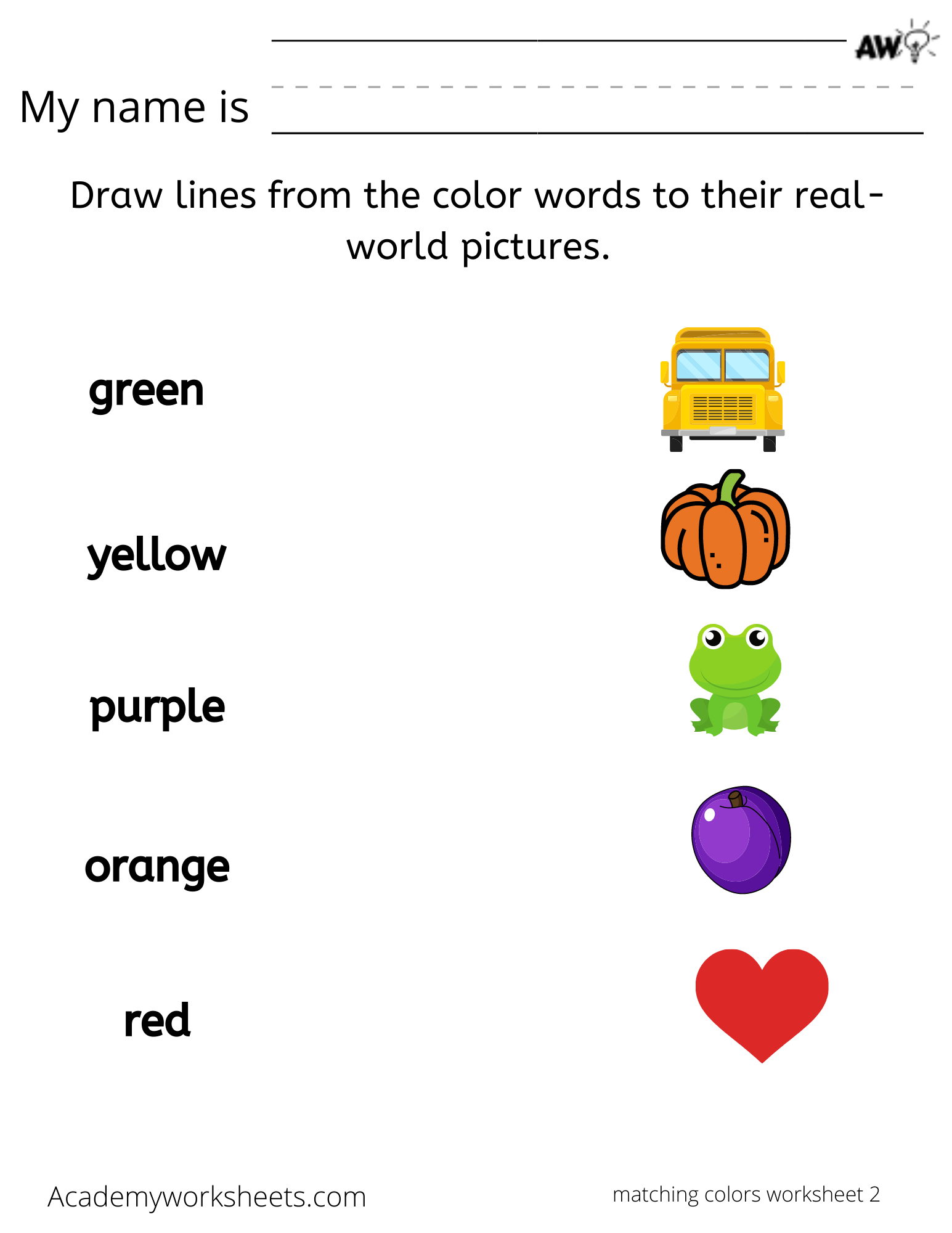 match the color to the spelling of the word